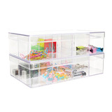 Howards Stackable Organiser 8 Compartments Deep - Clear