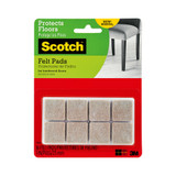 Scotch Furniture Felt Pads Beige Square 16 Pack