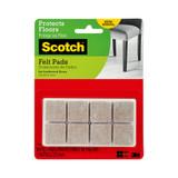 Scotch Furniture Felt Pads Beige Square 16 Pack