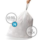 simplehuman Bin Liner 45-50L Code N - 20 Pack