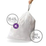 simplehuman Bin Liner 35-45L Code K - 60 Pack