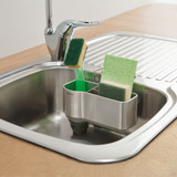 simplehuman Sink Caddy - Stainless Steel with Silicone Brush Holder