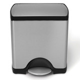 simplehuman 30L Deluxe Rectangular Step Bin - Finger Print Proof