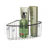 iDesign Stainless Steel Suction Corner Basket