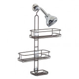 iDesign Linea Adjustable Shower Caddy Bronze