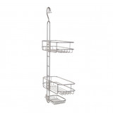 iDesign Linea Adjustable Shower Caddy Silver