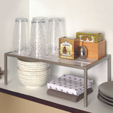 Seville Stacking Cabinet Pantry Shelf Large - Silver/White