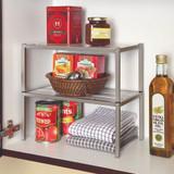 Seville Stacking Cabinet Pantry Shelf Medium - Silver/White