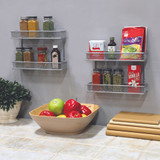 Seville 2-Tier Spice Rack - Silver Mesh