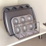 Seville Kitchen Stacking Rack - Silver/White