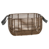 Howards Poly Rattan Rectangular Basket with Handle 3-Piece Set