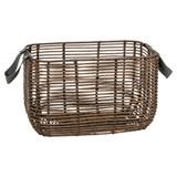 Howards Poly Rattan Rectangular Basket with Handle 3-Piece Set