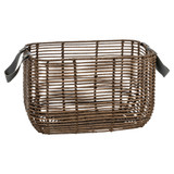 Howards Poly Rattan Rectangular Basket with Handle - Medium