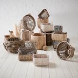 Howards Poly Rattan Rectangular Basket with Handle - Medium