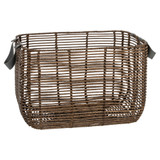 Howards Poly Rattan Rectangular Basket with Handle - Large