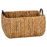 Howards Water Hyacinth Rectangular Basket with Metal Handle 3-Piece Set