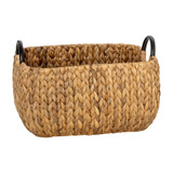 Howards Water Hyacinth Rectangular Basket with Metal Handle - Medium