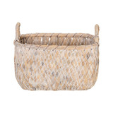 Howards Woven Rectangular Basket Small - White Wash