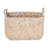 Howards Woven Rectangular Basket Medium - White Wash