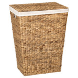 Howards Water Hyacinth Rectangular Laundry Hamper Basket with Lid
