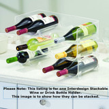 iDesign Fridge Binz Stackable Wine or Drink Bottle Rack