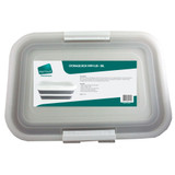 Collapse-A Storage Box 38L with Lid - Grey & White