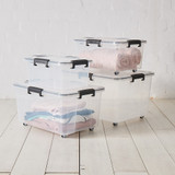 Super Seal Storage Box with Wheels 30L