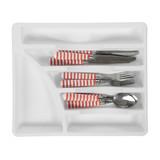 Sterilite White Plastic Cutlery Tray