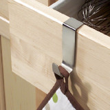 iDesign Over-The-Cabinet Single Hook  - Stainless Steel