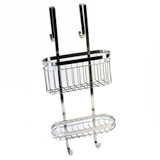 Stainless Steel Over the Door Shower Caddy