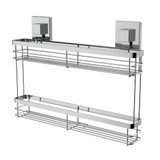 EvoVac Suction Kitchen Double Spice Rack - Chrome