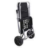 White Magic Handy Trolley with Seat  - Black