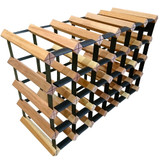 Wine Stash Timber Wine Rack 6x4 (30 Bottle) - Rustic