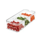 iDesign Crisp Fridge & Pantry Divided Container - Large
