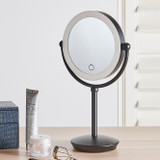 Signature Collection LED 5x/1x Magnification Makeup Mirror - Black