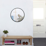 Umbra Hubba Round Wall Mirror - Black