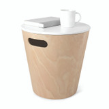 Umbra Woodrow Round Storage Stool - Natural