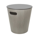Umbra Woodrow Round Storage Stool - Grey
