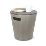 Umbra Woodrow Round Storage Stool - Grey