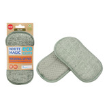 White Magic Eco Cloth Washing Up Pad - Olive