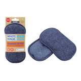 White Magic Eco Cloth Washing Up Pad - Denim