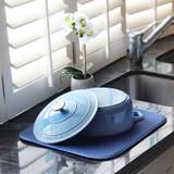 White Magic Eco Cloth Dish Drying Mat - Denim
