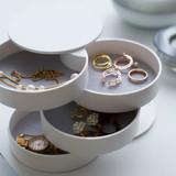 4 Tier Jewellery Box - White
