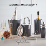 Signature Collection Double Wall Ice Bucket with Tongs