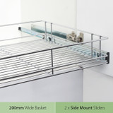 Tansel Pull Out Side Mount Wire Basket Kit for Internal Cabinet Width 267-270mm