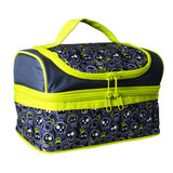 Avanti Yum Yum Double Decker Lunch Bag - Skulls
