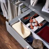 elfa Mesh Drawer Divider H80mm x W531mm 2-Piece - Platinum