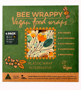 Bee Wrappy Vegan Food Wraps 4 Pack - Assorted