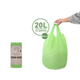 White Magic Eco Basics 15 Biodegradable Rubbish Bin Bags - 20L