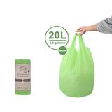 White Magic Eco Basics 15 Biodegradable Rubbish Bin Bags - 20L
